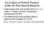 5 2 3 value of portfolio process under the risk neutral measure