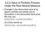 5 2 3 value of portfolio process under the risk neutral measure19