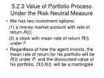 5 2 3 value of portfolio process under the risk neutral measure20