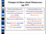 changes in ideas about democracy pg 357