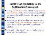 tariff of abominations the nullification crisis cont23