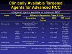 clinically available targeted agents for advanced rcc