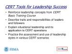 cert tools for leadership success