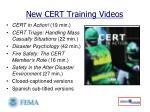new cert training videos