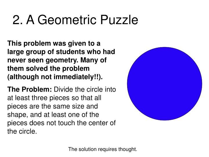 2 a geometric puzzle