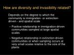 how are diversity and invasibility related