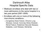 dartmouth atlas hospital specific data