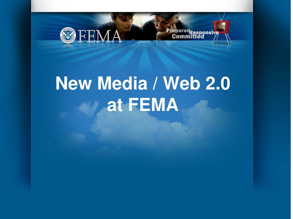 new media web 2 0 at fema l.