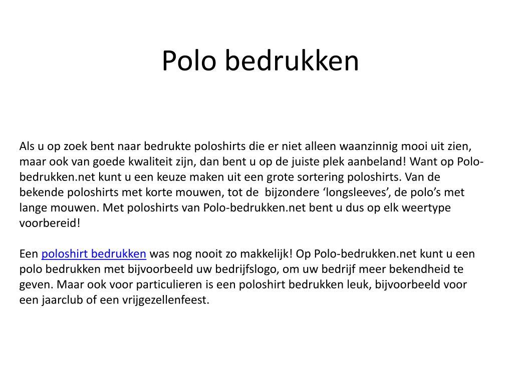 polo bedrukken l.
