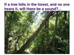 if a tree falls in the forest and no one hears it will there be a sound