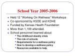 school year 2005 2006