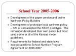 school year 2005 200616