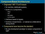 component based architectures