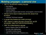 modeling languages a personal view