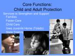 core functions child and adult protection