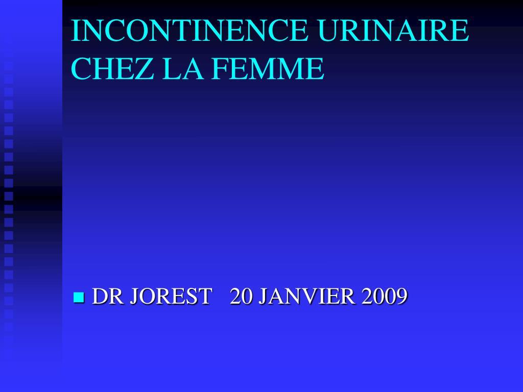 incontinence urinaire chez la femme l.