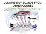 judgments records from other courts