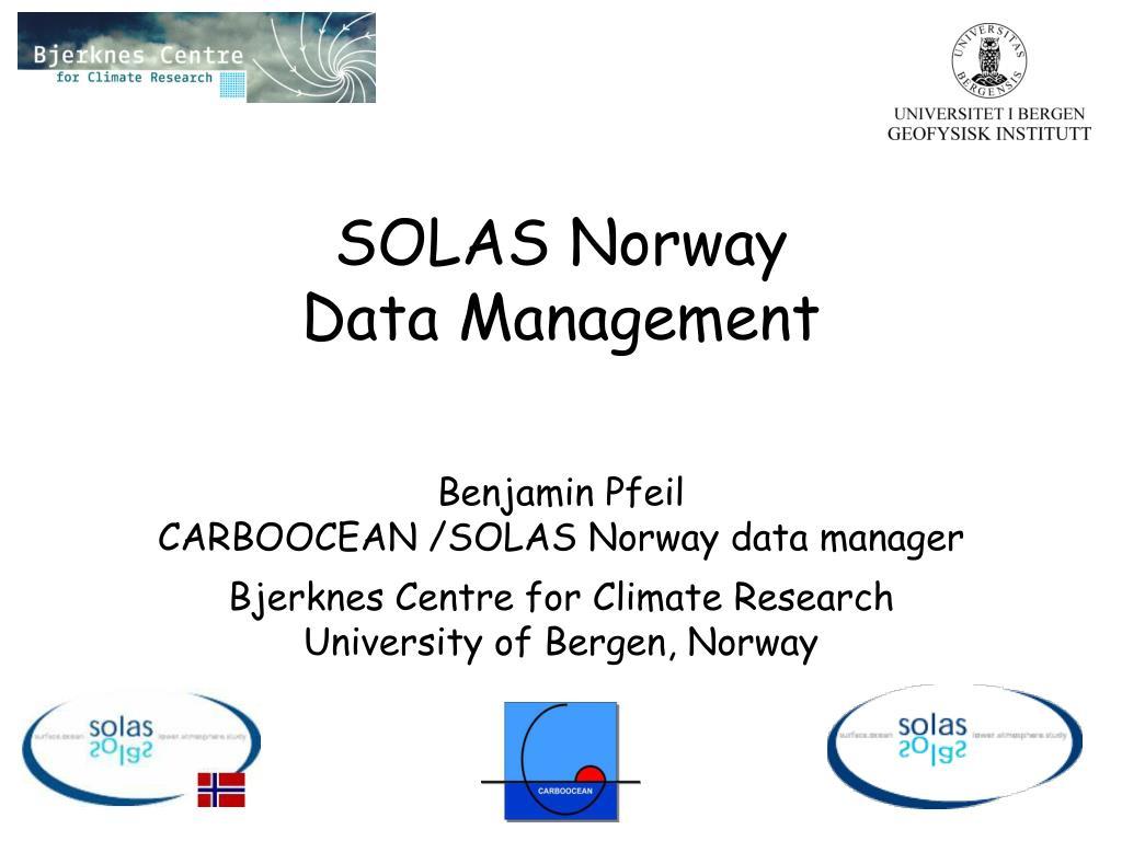 solas norway data management l.