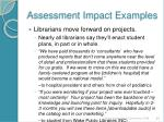assessment impact examples