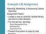 example lis assignment