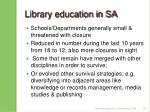 library education in sa