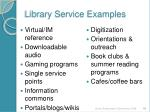 library service examples