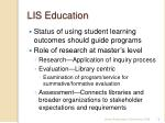lis education