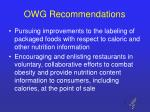owg recommendations9