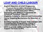 leap and child labour