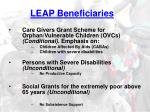 leap beneficiaries