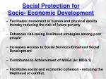 social protection for socio economic development