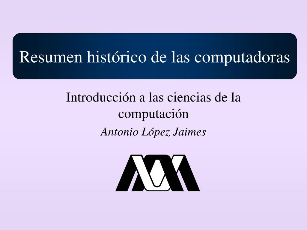 introducci n a las ciencias de la computaci n antonio l pez jaimes l.