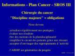informations plan cancer sros iii14