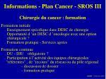informations plan cancer sros iii7