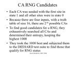 ca rng candidates