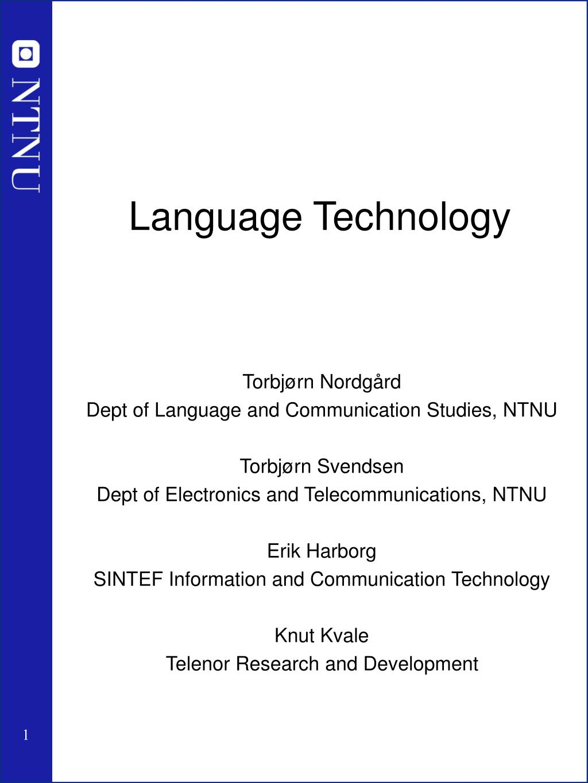 language technology l.