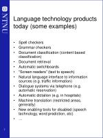 language technology products today some examples