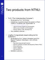 two products from ntnu
