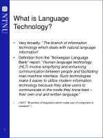what is language technology