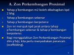 a zon perkembangan proximal