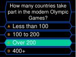 how many countries take part in the modern olympic games24