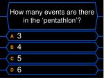 how many events are there in the pentathlon