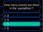 how many events are there in the pentathlon40