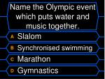 name the olympic event which puts water and music together