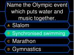 name the olympic event which puts water and music together52