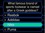 what famous brand of sports footwear is named after a greek goddess48