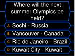 where will the next summer olympics be held