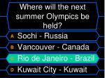 where will the next summer olympics be held60