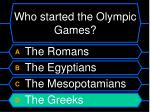 who started the olympic games8