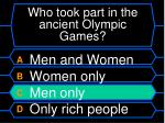 who took part in the ancient olympic games16